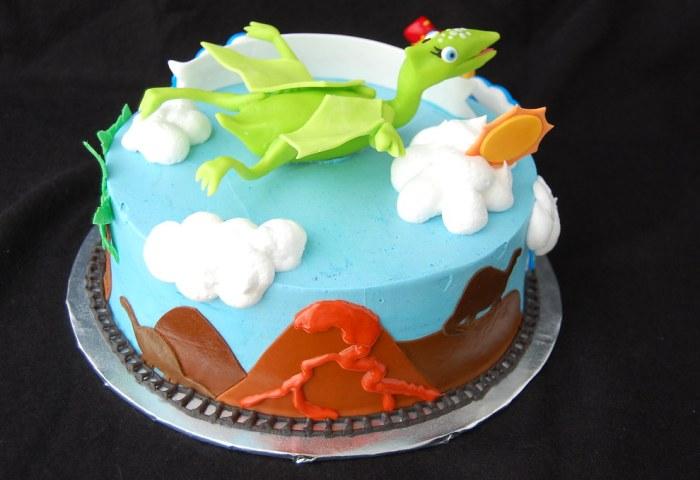 Dinosaur Train Birthday Cake Rear Charmchang Flickr