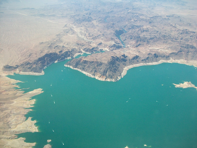 @ flying over lake mead