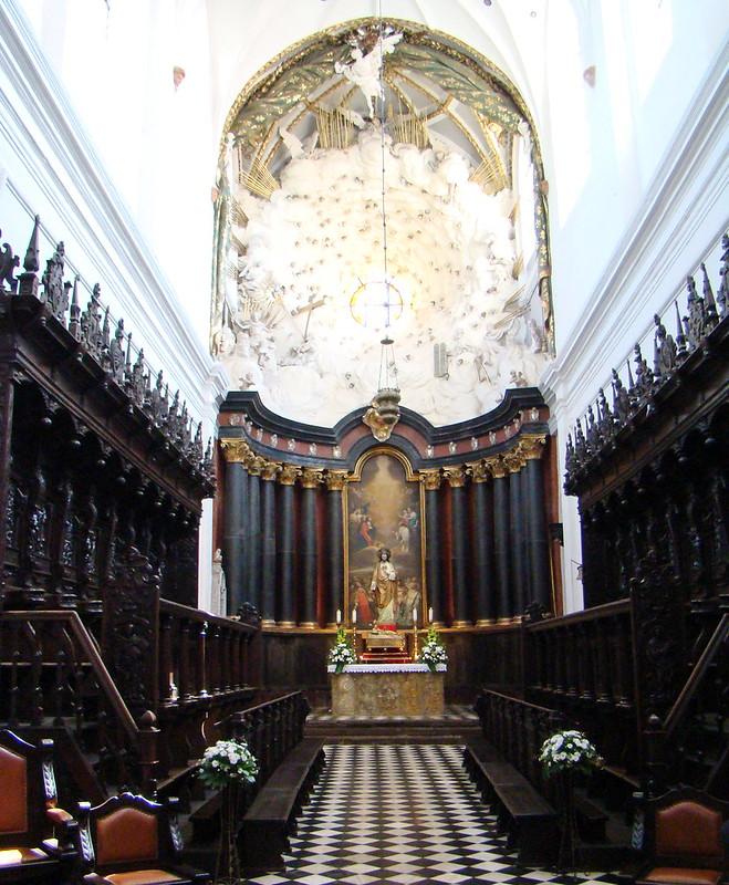 coro interior Catedral de Oliwa Gdansk Polonia 12