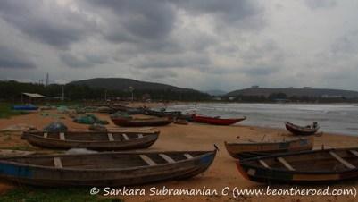Fishermen zone at Rishikonda Beach, Vizag
