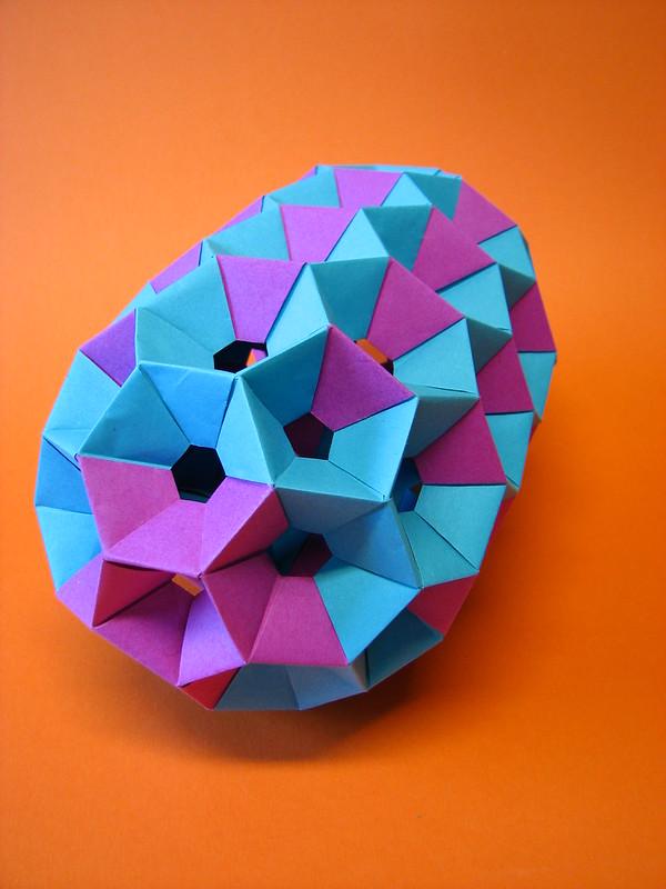 Modular Origami: a giant short nanotube