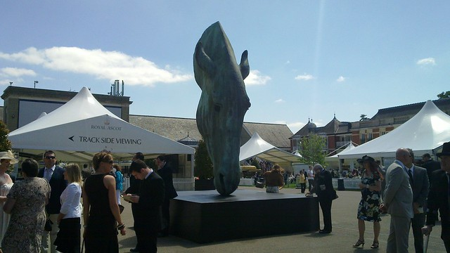 "Giant horse's head sculpture ""Still Water"" Royal Ascot 2010"