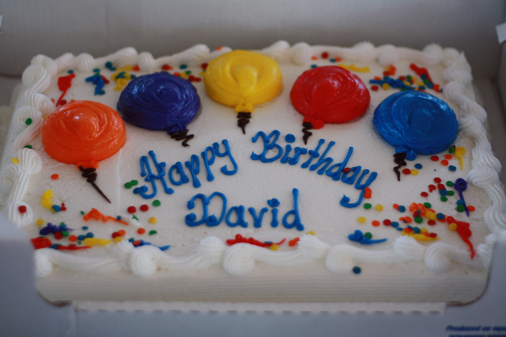 Happy Birthday David This Cake Was Delicious But There I Flickr