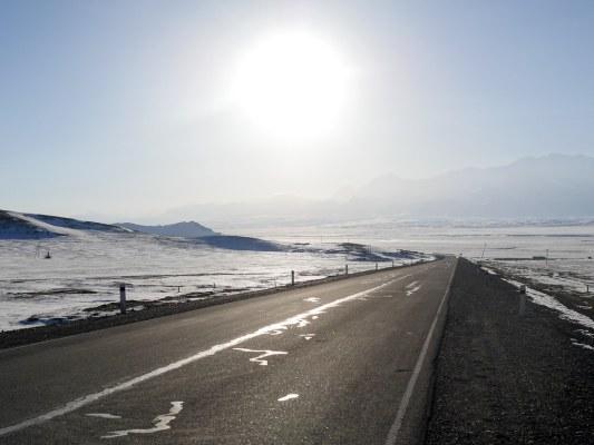 Heading left to the Irkeshtam border with China