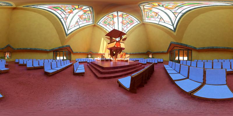 Trinity chapel by Frank Lloyd Wright