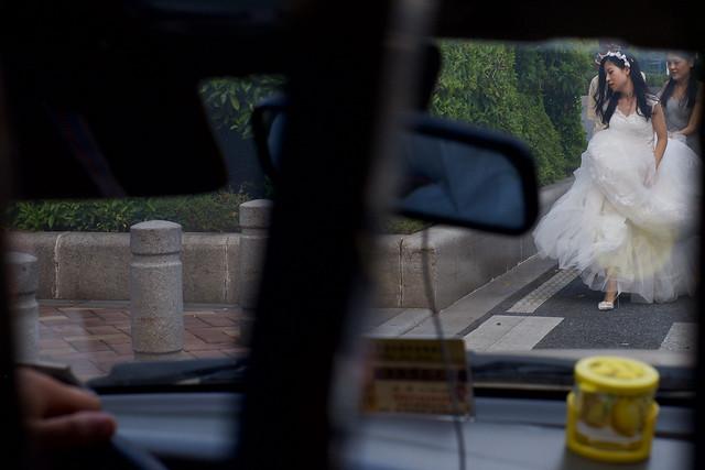 Guangzhou Bride from taxi.