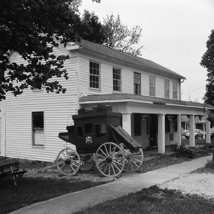 "The 1848 ""American House"" in Burlington, IN"