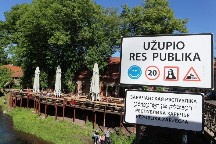 República de Uzupis en Vilnius (Lituania). Barrio alternativo, independiente y bohemio de artistas.