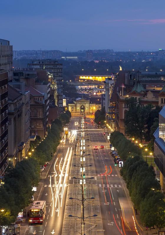 Nemanjina street by night