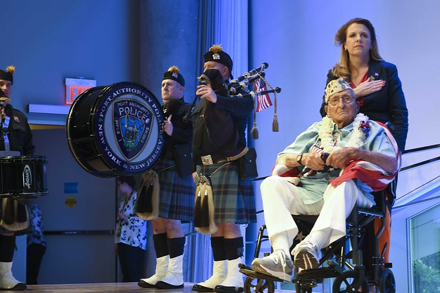 Pearl Harbor Survivor Visits 9/11 Memorial and Museum