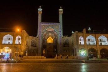 Hier nog een keer de Masjed-e Sjah moskee by night.