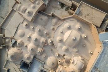 Zo zien de vele koepeltjes er van boven uit.