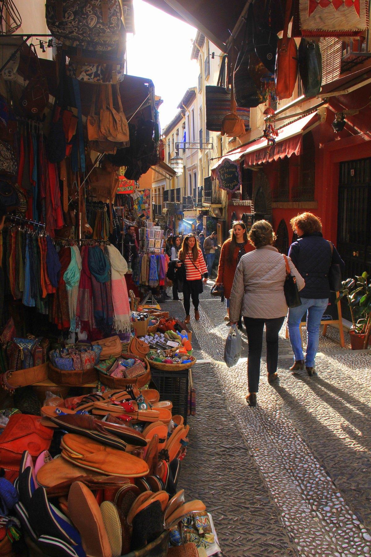 Granada has souks at the old Arab quarter