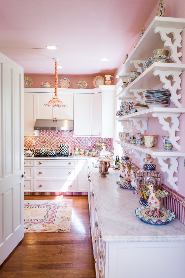 the prettiest pink kitchen you ever did see