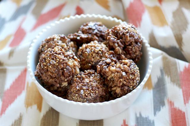 Salted Chocolate Sesame Rice Crispy Treats - 18