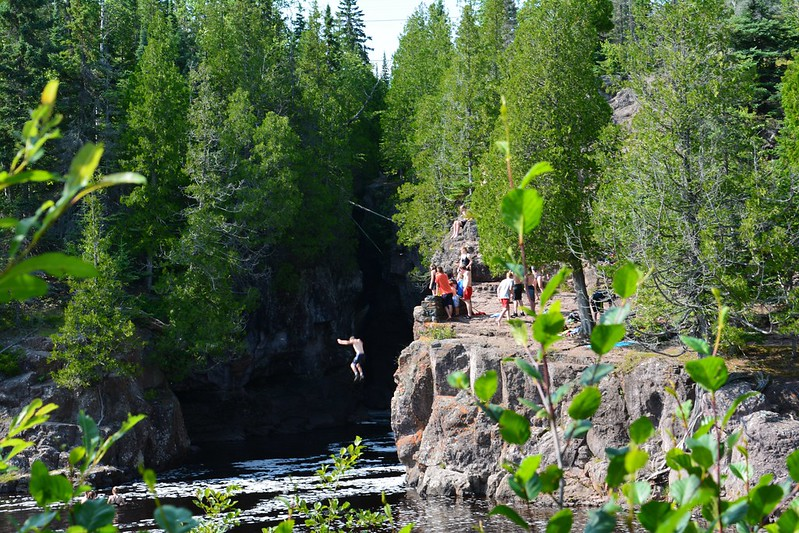 Falling into the Temperance River