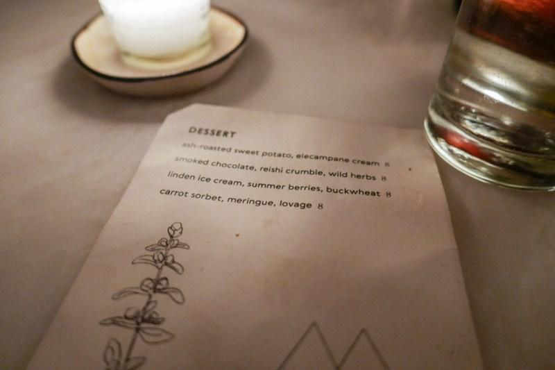 Metta dessert menu