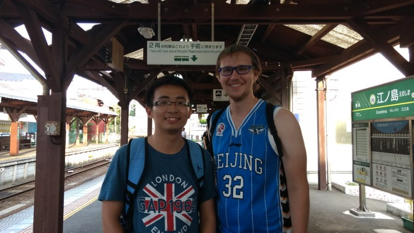 Shao from China wearing UK and Mischa wearing Beijing