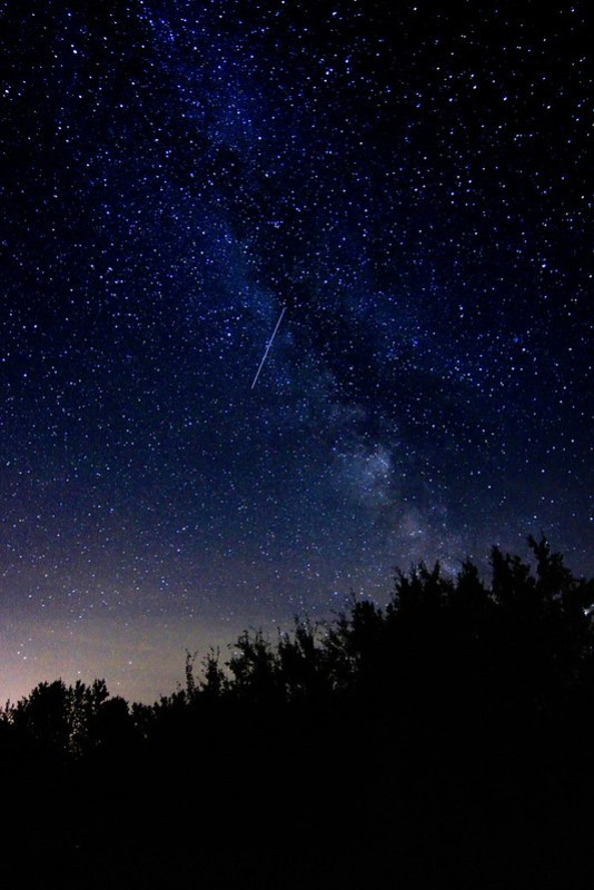 The Galaxy (and a meteor)