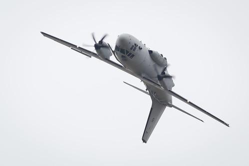Fairford RIAT 201Italian Air Force Alenia Aermacchi C-27J Spartan displays at Fairford International Air Tattoo 20177