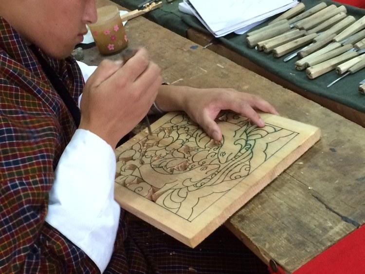 Bhutan Woodcarving