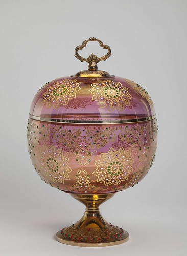 Spherical Glass and Metal Container