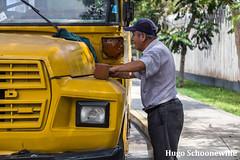 Cleaning the van