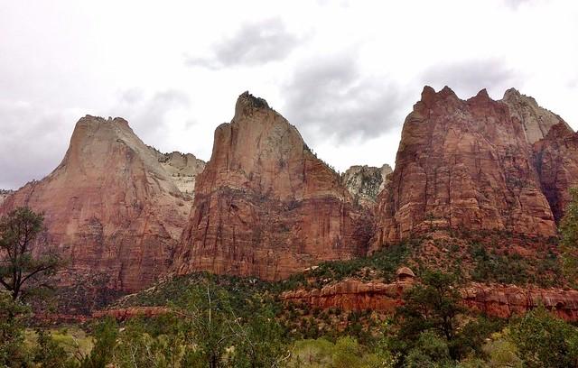 Three Patriarchs of Zion National Park