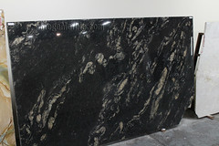 Black Cosmic Granite slabs for countertop