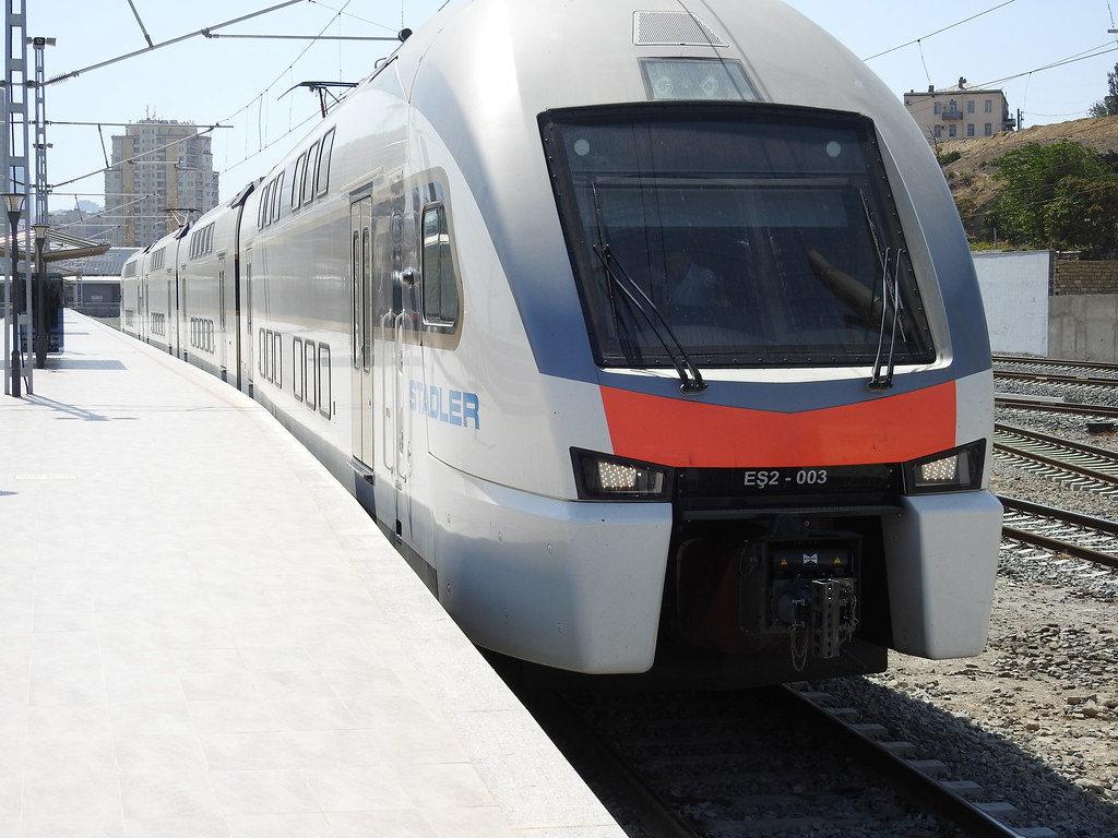 A train in Baku, Azerbaijan