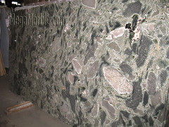 Verde imperial Granite slabs for countertop