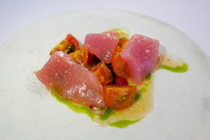 Moonfish (Opah) and Tomatoes