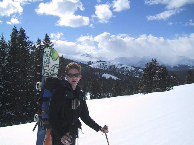 Jeff Takin a break from the hike