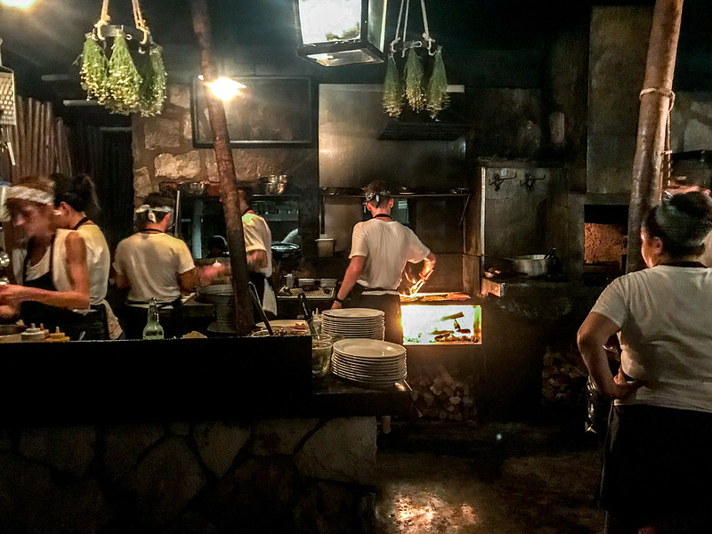 Open kitchen at Hartwood