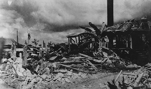 Agana Houses Destroyed