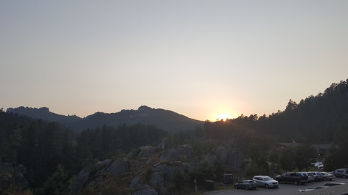 Sunset at Mount Rushmore