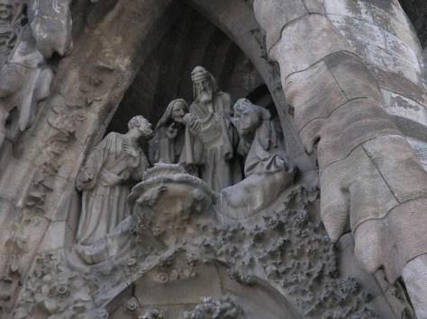 Barcelona Sagrada Familia facade detail
