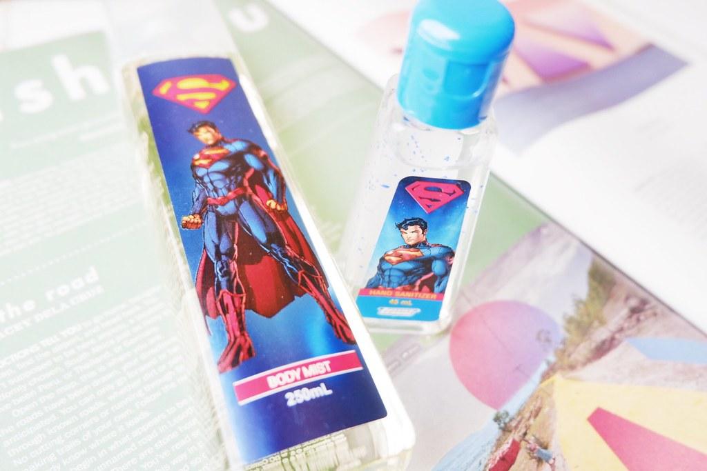 Tupperware Superman Body Mist and Hand Sanitizer