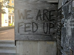 Is The American Public Fed Up?