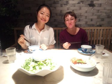 Eating wonderful food with Bei