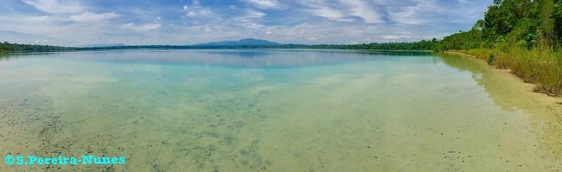 Laguna Lachuá Lake, A panoramic view - Cobán, Guatemala