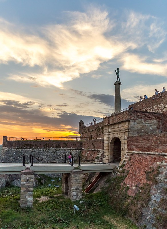 Sunset at Belgrade fortress