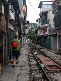 Train street (corner of Le Duan and Kham Tien)