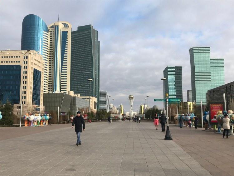 Nurzhol Boulevard + Baiterek Tower