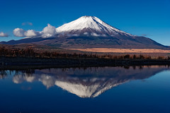 The reflection of Mt. Fuji