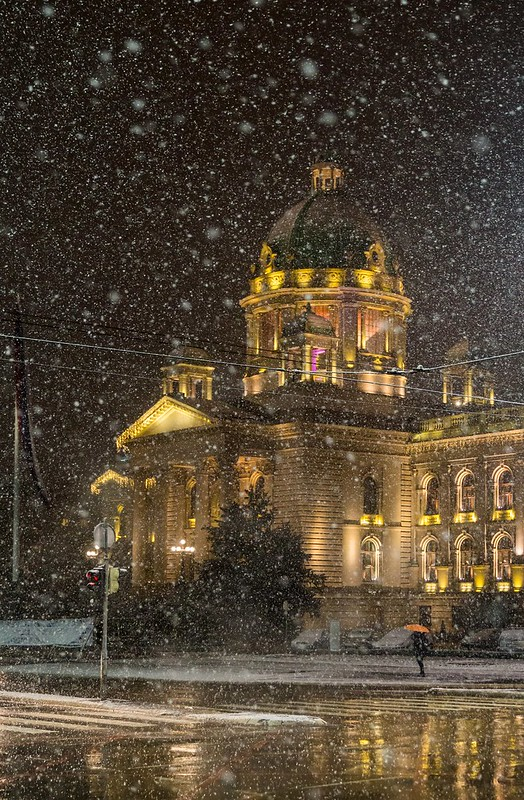 National Assembly in Snowstorm