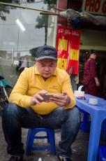 Man Checking Facebook