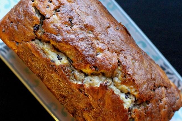 Choc Chip Cheesecake Banana Bread - 14