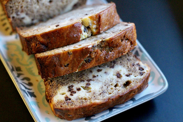 Choc Chip Cheesecake Banana Bread - 19