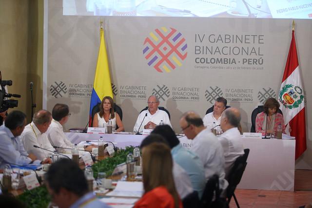 Ceremonia de inauguración del Encuentro Presidencial y IV Gabinete Binacional Colombia - Perú